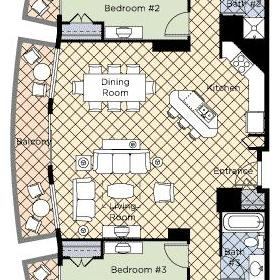 Wyndham Vacation Resorts at National Harbor — 4BR Presidential Floor Plan