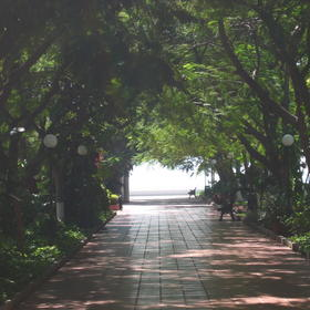 View of the walkway to the ocean