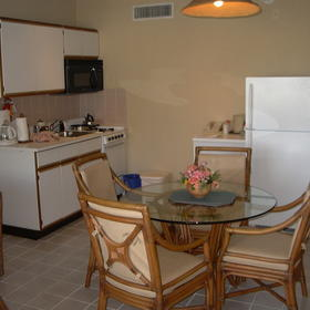 Unit kitchen and dining area