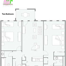 Two-bedroom room layout