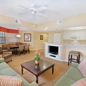 Holiday Inn Club Vacations at Orange Lake Resort - River Island Living Area