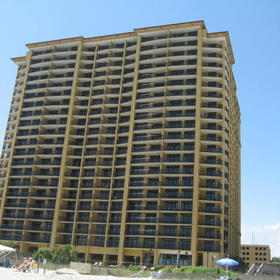 Hilton Grand Vacations Club (HGVC) at Anderson Ocean Club — View of resort from beach