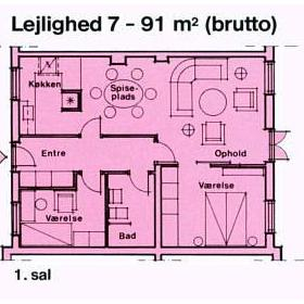 Osterso Faergegard — - Unit Floor Plan