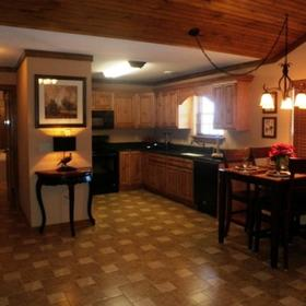 The Lodges at The Great Smoky Mountains Dining and Kitchen Area