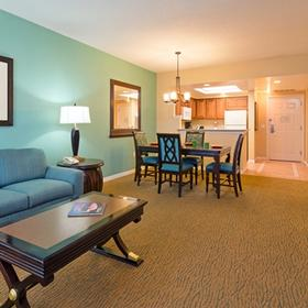 Hilton Grand Vacations Club (HGVC) at SeaWorld Living Area