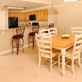 Escapes! to the Shores — Kitchen and Dining Area