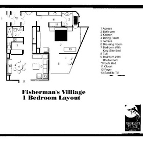 Sunset Fishermen Spa & Resort - One-Bedroom Floor Plan