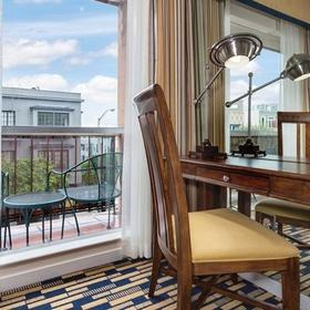The Suites at Fisherman's Wharf Balcony and Desk
