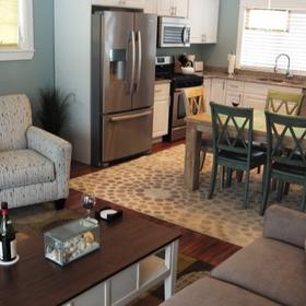 Sheepscot Harbour Village Resort & Spa — Living Area and Kitchen