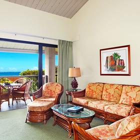Hanalei Bay Resort Living Area