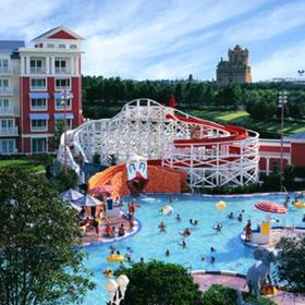 Keister Pool with Roller Coaster Slide