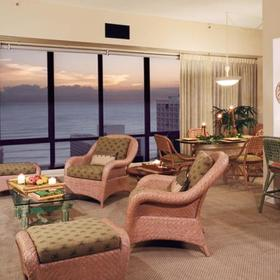 Aston Waikiki Sunset Living Area