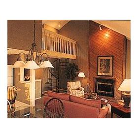 Pocono Mountain Villas- Unit Living Area