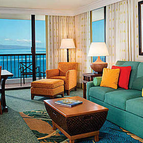Marriott's Maui Ocean Club Living Area