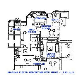 Marina Fiesta Resort - Unit Floor Plan