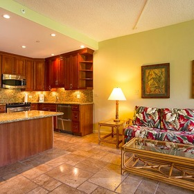 Kaanapali Shores — Living Area and Kitchen