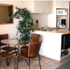 WorldMark Golden Beach Resort - Unit Dining Area & Kitchen