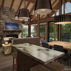 Copper Creek Villas & Cabins at Disney's Wilderness Lodge Cabin Living Area