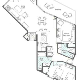 Wyndham SeaWatch Plantation - Unit Floor Plan