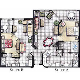 Vacation Village at Weston - Unit Floor Plan