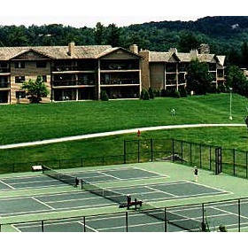 Tennis courts at Chetola Resort