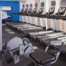Fitness area with state-of-the-art equiipment