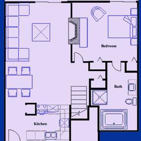 Tanglwood Resort - Two Bedroom First Floor, Floor Plan