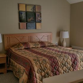 Upstairs Bedroom with King bed and full bath