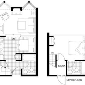 Mountainside Lodge - Unit Floor Plan