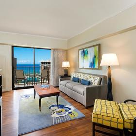 Hilton Grand Vacations Club (HGVC) at Hilton Hawaiian Village Living Area