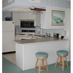 Tybrisa at the Beach - Unit Kitchen