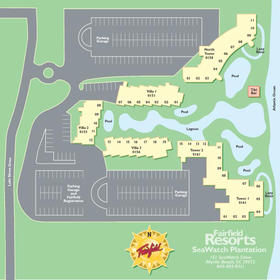 Wyndham SeaWatch Plantation - Resort Map