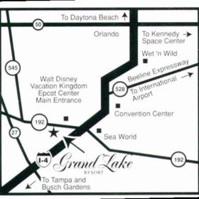 Grand Lake Resort - Area Map