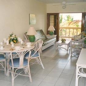 The Coconut Palms Resort — Living Room of the 1 Bedroom Unit