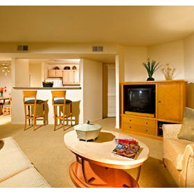 Desert Paradise Resort - Unit Living Area