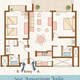 The Sea Aquarium Resort - Unit Floor Plan