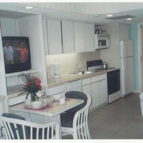 Flamingo Beach Resort — - unit kitchen