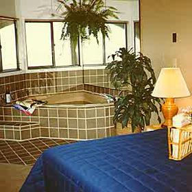Bedroom and Tub at Hibiscus