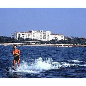 Hotel Des Bains — Water Skiing off the Shores at the