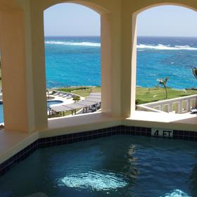 The Residences at the Crane Beach Resort — Private plunge pool in the turret