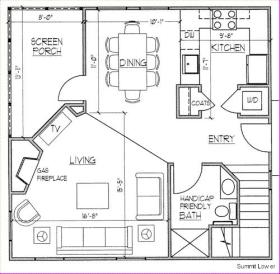 Ridge Top Village and Ridge Top Summit at Shawnee Resort - Downstairs Floor Plan
