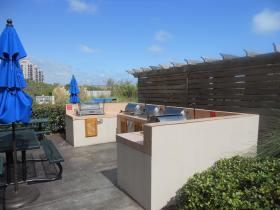 One of several outdoor grill areas