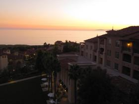 Balcony view from one of the villas - Catalina Island in the horizon