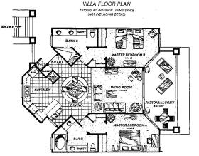 Lawrence Welk Resort Villas - Unit Floor Plan