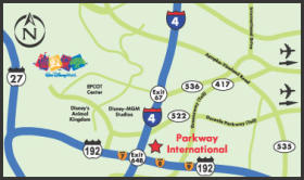Parkway International Resort - Area Map