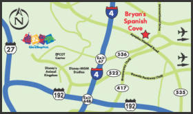 Bryan's Spanish Cove - Area Map