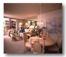 Kahana Falls - Unit Dining & Living Areas