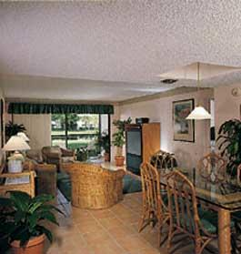 Vacation Village at Weston - Unit Living Area