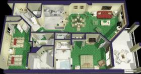 Marriott's Barony Beach Club - Unit Floor Plan