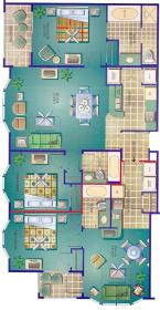 Silver Lake Resort - Unit Floor Plan